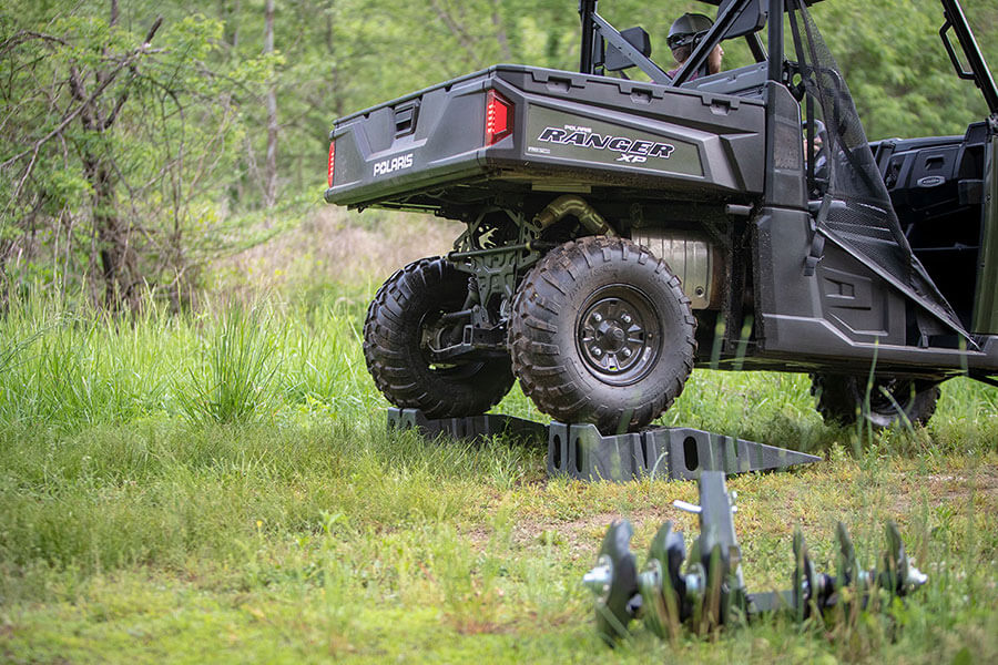 Big Buck Food Plot Plow - Attaches to any standard strong 2-inch receiver hitch found on ATVs and UTVs