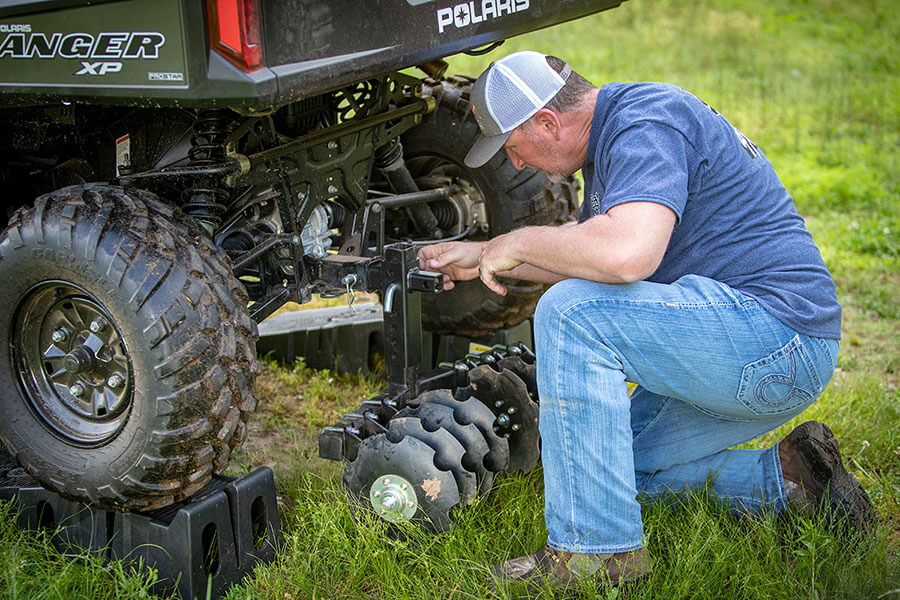 Big Buck Food Plot Plow - Put the plow in disc position and let it do the work for you