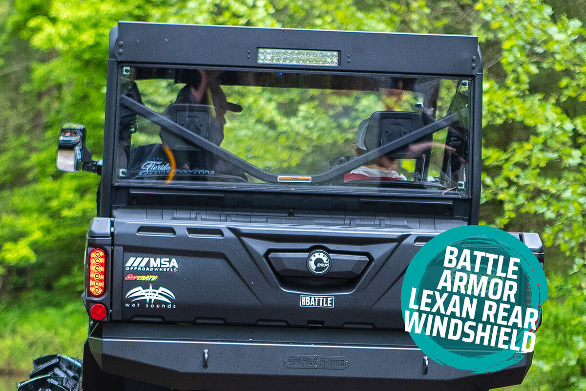 Battle Armor Lexan Rear Windshield