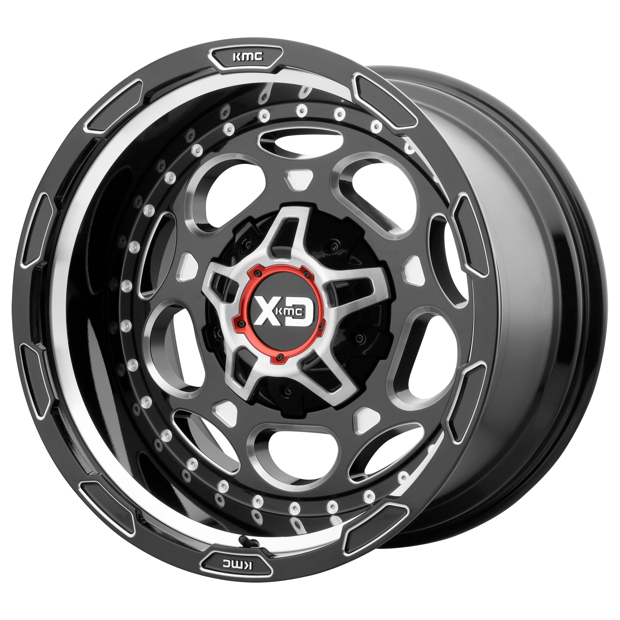 XD SERIES BY KMC WHEELS XD837 DEMODOG Gloss Black Milled